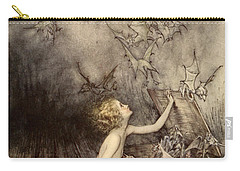 A Sudden Swarm Of Winged Creatures Brushed Past Her Carry-all Pouch by Arthur Rackham