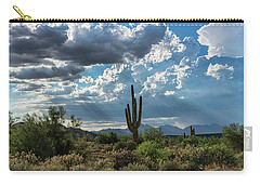 Carry-all Pouch featuring the photograph A Summer Day In The Sonoran  by Saija Lehtonen