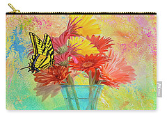 A Summer Time Bouquet Carry-all Pouch by Diane Schuster