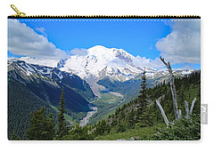 Carry-all Pouch featuring the photograph A Summer View Of The Mountain  by Lynn Hopwood
