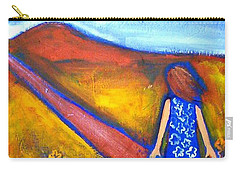 Carry-all Pouch featuring the painting A Sunny Path by Winsome Gunning