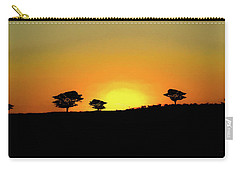 A Sunset In Namibia Carry-all Pouch by Ernie Echols