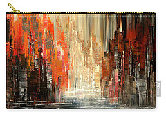 Carry-all Pouch featuring the painting A Tale Of Two Cities by Tatiana Iliina