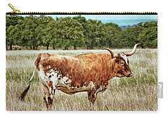 Carry-all Pouch featuring the photograph A Texas Legend by Linda Unger