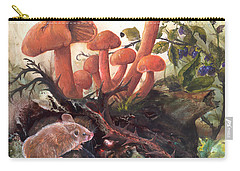 Carry-all Pouch featuring the painting A Thorny Situation by Sherry Shipley