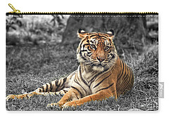 A Tiger Relaxing On A Cool Afternoon II Carry-all Pouch