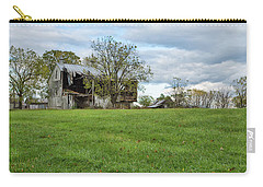 Carry-all Pouch featuring the photograph A Tired Old Barn by John M Bailey