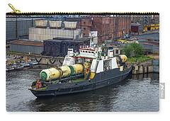 Carry-all Pouch featuring the photograph A Train Ferry In St Petersburg Carrying Freight by Clare Bambers