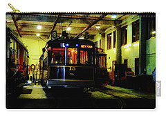 Carry-all Pouch featuring the photograph A Tram I Am by Steve Taylor