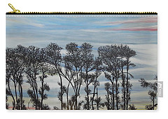 Carry-all Pouch featuring the painting A Treeline Silhouette by Marilyn  McNish