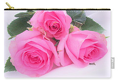 A Trinity Of Pink Roses Carry-all Pouch