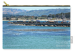 Carry-all Pouch featuring the photograph A Tropical Day At The Monterey Coast Guard Pier by Susan Wiedmann