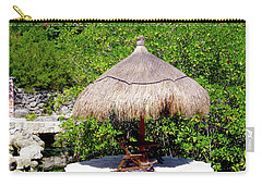Carry-all Pouch featuring the photograph A Tropical Place To Relax by Francesca Mackenney