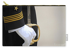 A U.s. Naval Academy Midshipman Stands Carry-all Pouch