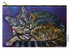 A Very Colorful Cat Carry-all Pouch by Reb Frost