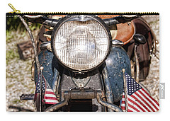 A Very Old Indian Harley-davidson Carry-all Pouch