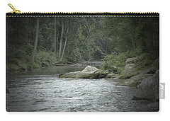 Carry-all Pouch featuring the photograph A View Downstream by Donald C Morgan
