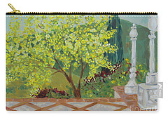 Carry-all Pouch featuring the painting A View From Hearst Castle by Maria Langgle