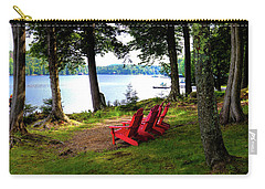 Carry-all Pouch featuring the photograph A View Of Big Moose Lake by David Patterson