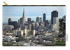 Carry-all Pouch featuring the photograph A View Of Downtown From Nob Hill by Steven Spak