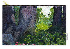 A View Through The Trees Watercolor Batik Carry-all Pouch