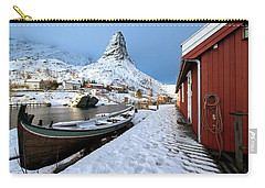 Carry-all Pouch featuring the photograph A Village Lofoten by Dubi Roman