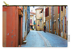 Carry-all Pouch featuring the photograph A Walk In A French Village by Hugh Smith