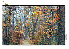 A Walk In November Carry-all Pouch by John Rivera