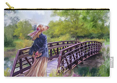 Carry-all Pouch featuring the photograph A Walk In The Garden by Mary Timman