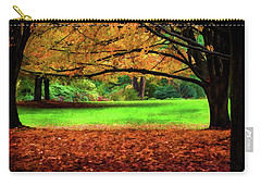 Carry-all Pouch featuring the photograph A Walk In The Park by Jordan Blackstone