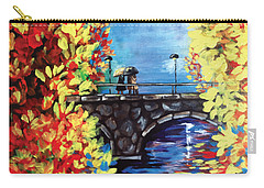 Paris In The Fall Carry-all Pouch by Dani Abbott