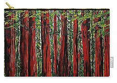 A Walk In The Redwoods Carry-all Pouch by Mike Caitham
