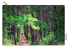 A Walk Into The Forest Carry-all Pouch by Tamyra Ayles