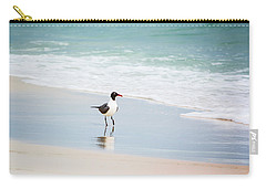 A Walk On The Beach Carry-all Pouch by Shelby  Young