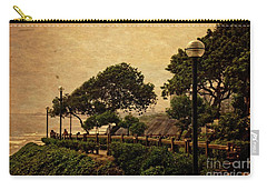 Carry-all Pouch featuring the photograph A Walk On The Edge - Peru by Mary Machare