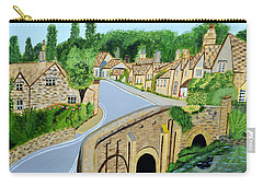 A Walk Through A Village In The English Cotswolds Carry-all Pouch