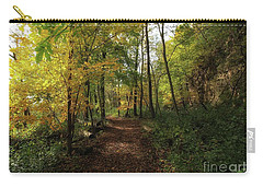 A Walk Through Autumn Carry-all Pouch by Jimmy Ostgard