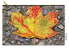 A Walk Through The Woods Carry-all Pouch by Sarah Batalka