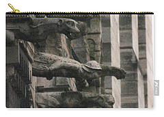 A Wall Of Gargoyles Notre Dame Cathedral Carry-all Pouch by Christopher Kirby