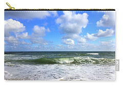 A Wave To Ride Carry-all Pouch by Shelia Kempf