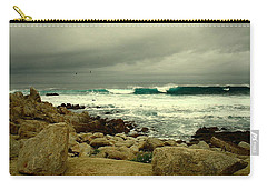 Carry-all Pouch featuring the photograph A Winter Day At The Beach by Joyce Dickens