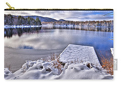 Carry-all Pouch featuring the photograph A Winter Day On West Lake by David Patterson