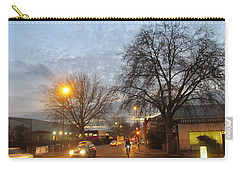 Carry-all Pouch featuring the photograph A Winter Evening  In 2015 At Park Royal - Northwest London by Mudiama Kammoh