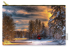 A Winter Sunset Carry-all Pouch by David Patterson