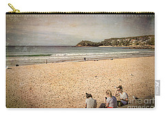 Carry-all Pouch featuring the photograph A Winter's Day In Manly by Elaine Teague
