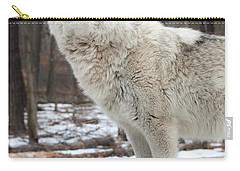 A Wolfs Modeling Pose Carry-all Pouch