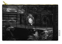 Carry-all Pouch featuring the photograph A Woman Walking Her Dog At Pittencrieff Park by Jeremy Lavender Photography
