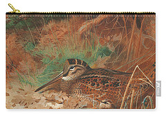 A Woodcock And Chick In Undergrowth Carry-all Pouch by Archibald Thorburn