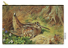 A Woodcock And Chicks Carry-all Pouch