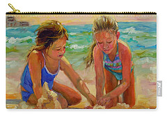 Carry-all Pouch featuring the painting A World Of Their Own by Chris Brandley